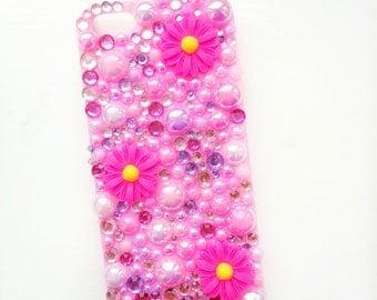 Pink Daisy Decoden Phone Case