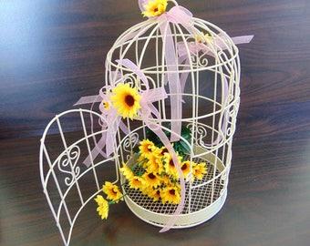 Wedding Birdcage Card Holder Bridal Shower Table Centerpiece