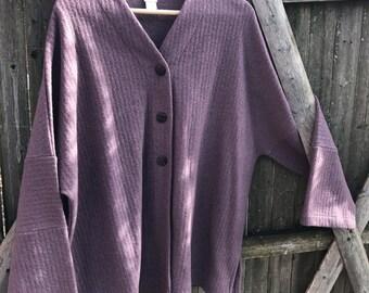 Vintage Purple J. Jill,80% Wool Jacket Blazer Women's size XL.