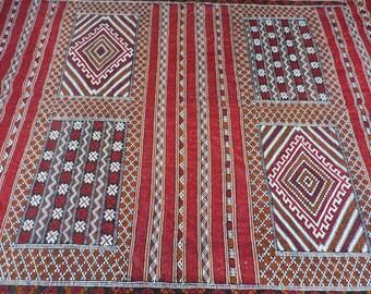 Boho Vintage Moroccan Kilim Carpet