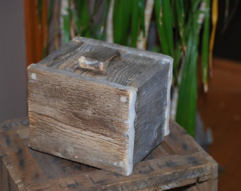 Barn wood decorative box