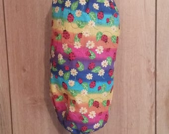 Lady Bug Print Plastic Bag Holder