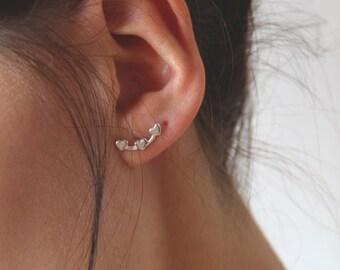 Sweetheart crawler earrings 925 St silver