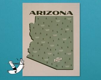 Arizona - Cultural Desert - 2 Color Screenprint