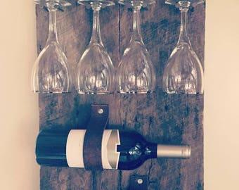 Wine Bottle and Glasses Holder