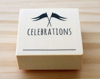 CLEARANCE SALE - Rubber stamp - CELEBRATIONS