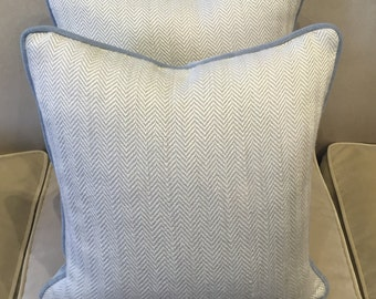 Pierre Frey herringbone fabric cushion