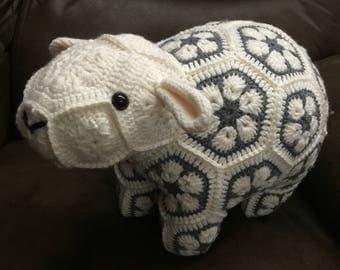 Stuffed sheep lamb animal - African Flowers Heidi Bears