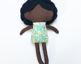 Handmade Rag Doll - 'Amito' in Liberty Print Fabric