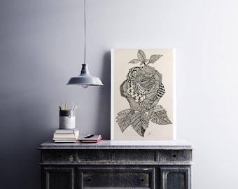 Zentangle Rose Art