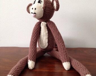 Cute cheeky crocheted monkey