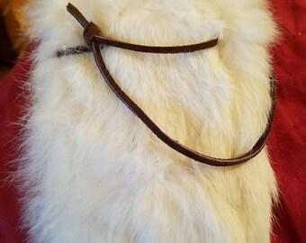 Cotton tail fur pouch