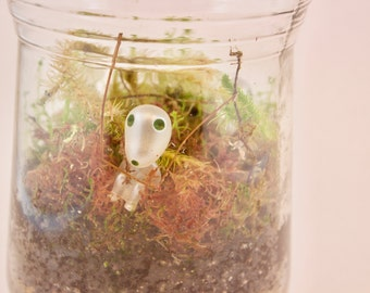 Living Forest Moss Terrarium Jar With Forest Spirit