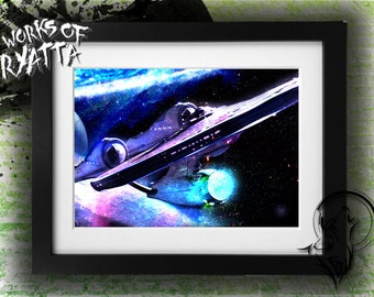 Star Trek Beyond Movie Enterprise Print