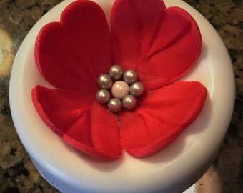 40 Flower Edible Cake or Cupcake Toppers - CHOICE of COLOR