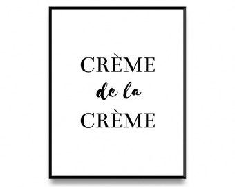 Crème De La Crème Print, Printable Art, Art Prints, Scandinavian Print, Wall Art, Nordic Poster Print, Nordic Design Print, Instant Download