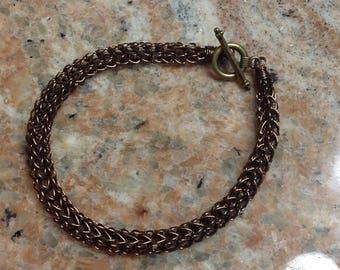 Bracelet, Viking weave in Bronze color