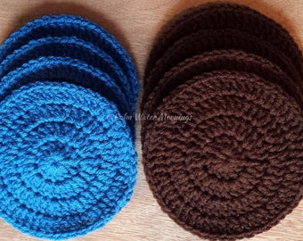 4 Crochet Pan Savers/Counter Savers