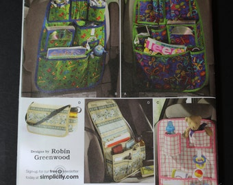 NEW Simplicity pattern 2916  Car Organizer