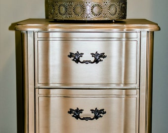 SOLD EXAMPLE... French Provincial, french provincial nightstand, Painted Furniture, Vintage Furniture, Chic furniture, nightstands, vintage