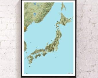 Mt Fuji Etsy - Japan map mount fuji