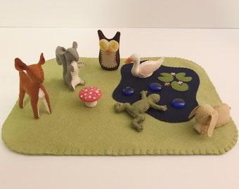 Woodland Felt Animals DIY Pattern