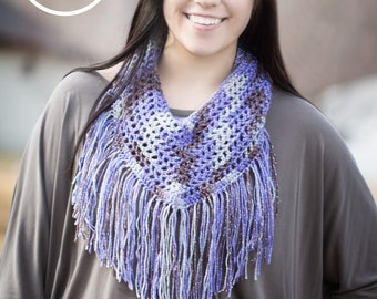 Women's purple infinity scarf - Multi color