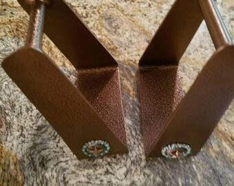 Barrel Racing Stirrups.  Copper Stirrups