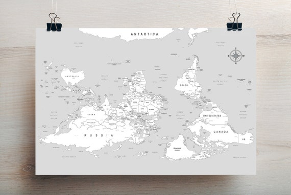 South is up large world map like this item gumiabroncs Images