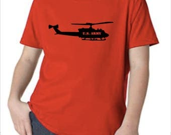 Kids United States Army (USA) T-Shirt with Helicopter