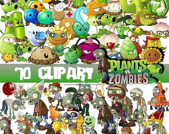 70 Plants vs Zombies ClipArt-Digital Plants vs Zombies Clip Art PNG background files image-Download Scrapbooking Plants vs Zombies image