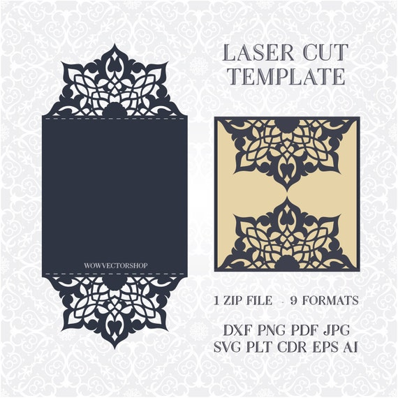 svg pdf dxf png cdr papercutting template With laser cut wedding invitations file