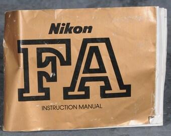 Nikon FA Instruction Manual