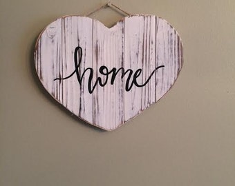 home heart sign