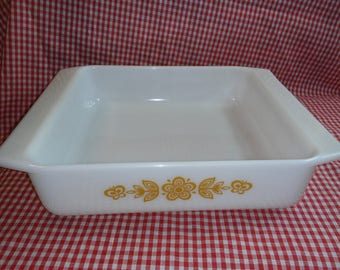 Pyrex Butterfly Gold 922 brownie pan