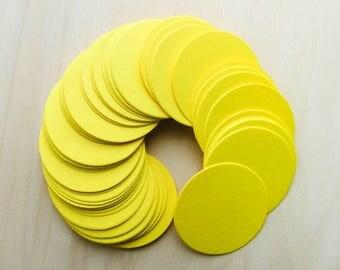 "50pcs Yellow Circle Cardstock 2"" Tags"