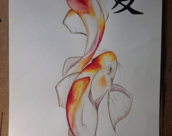Japanese Koi Fish Painting