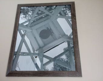 Old Coloma Church Bell Tower- Framed-16x20-Black and White