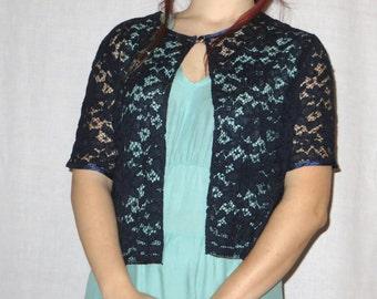 Blue lace bolero