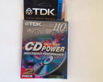 TDK 110 min CD power cassettes