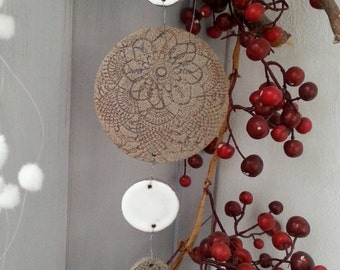 Wind chime window jewelry ceramic