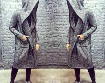 Mens long coat/Cardigan/Mens Wool Coat/Coat Wool/