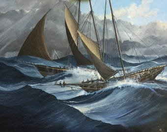 Riding Out The Gale c1890