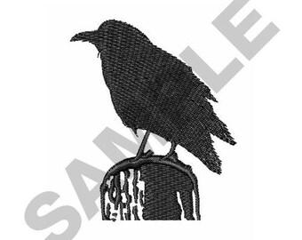 Raven Silhouette - Machine Embroidery Design