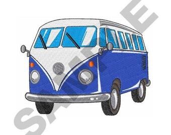 Retro Van - Machine Embroidery Design