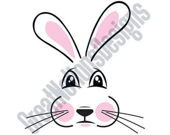 Bunny Face - SVG - HTV - Vinyl Cutting Graphic Art