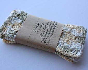 Set of 2 Crochet dishcloths / dishcloths / Washcloths