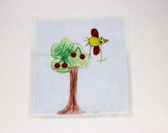 empty Pocket - plate - personalized - child drawing