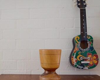 Retro vintage Wooden plant pot