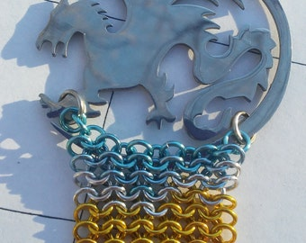 Dragon Chainmaille Pendant